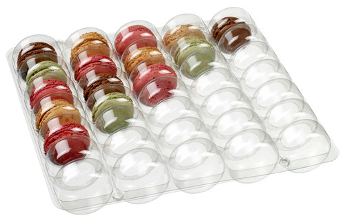 Thermoformed transparent frame for 35 macaroons (Case of 150 pc)
