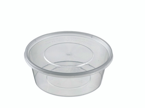 Round Plastic Transparent container with lid PP 300ml/10.1oz (Case of 450 pc)