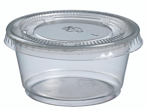 Portion cup PP with lid PET 60ml/2oz (Case of 2,000 pc)