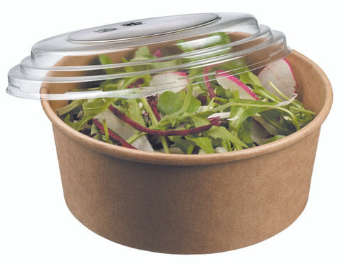 Salad bowl round kraft 750ml/25.4oz - LID NOT INCLUDED - (Case of 300 pc)