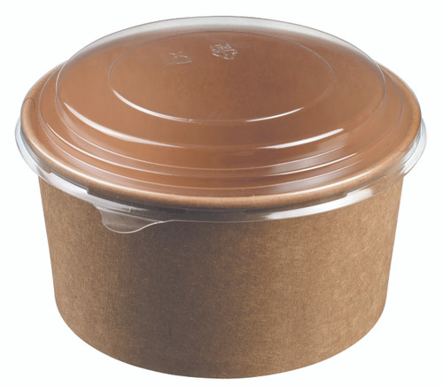 Salad bowl round kraft 1000ml/33.8oz - LID NOT INCLUDED - (Case of 300 pc)