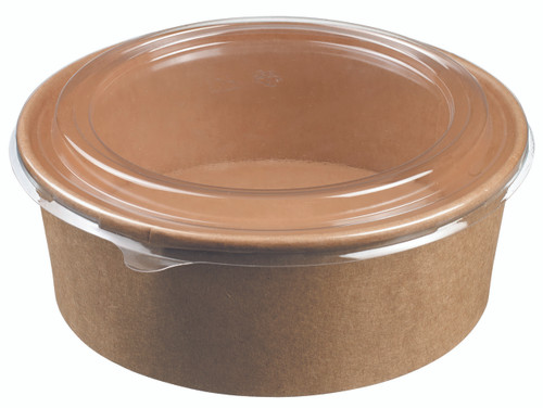 Salad bowl round kraft 1300ml/44oz - LID NOT INCLUDED - (Case of 300 pc)