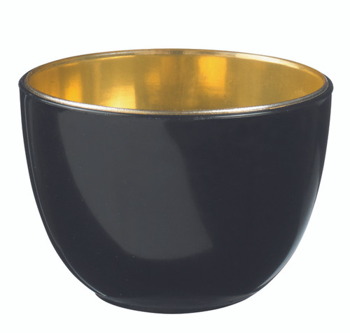 Eskofffie Tulip bowl black-gold 160ml / 5.4oz (Case of 240 pc)