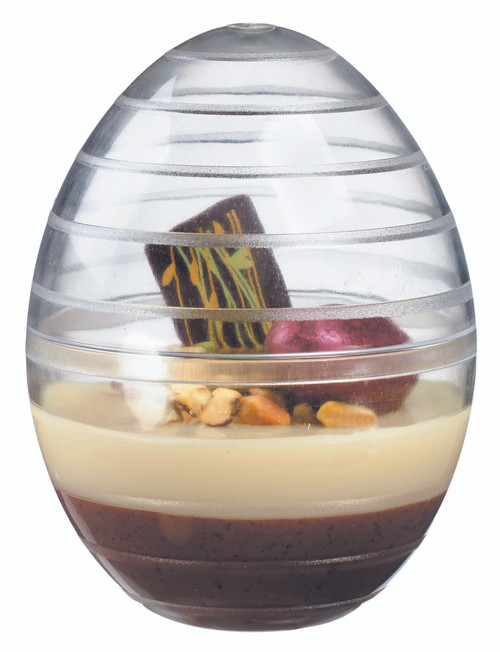 Egg shell mini dish base with top 45ml/1.5oz (Case of 400 pc)
