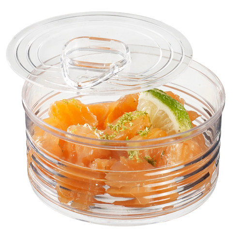 Tin can Transparent with lid 100ml / 3.4 Oz (Case of 120 pc)