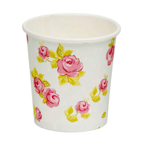 Hot expresso drink paper cup Flowers 100ml/3,4oz (Case of 2000 pc)