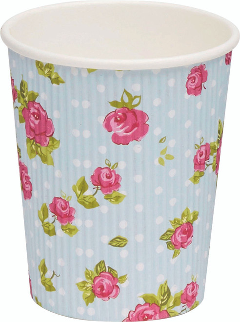Hot drink paper cup simple wall Flowers 250ml/8.5oz (Case of 1000 pc)