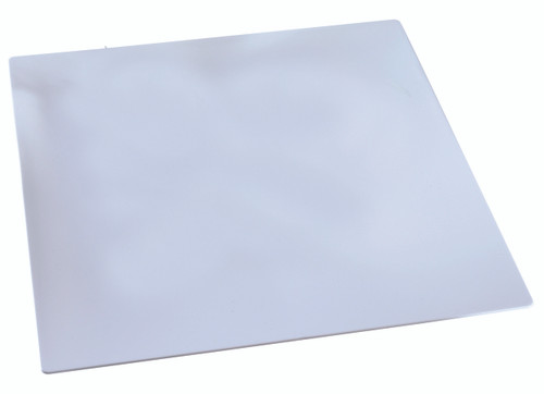 "Fluid Plate rectangular white 130x120mm / 5.1 X 4.7"" (Case of 100 pc)"