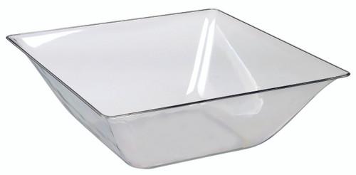 Fluid salad bowl transparent Clear 1400ml/47.3oz (Case of 50 pc)