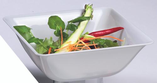 Fluid salad bowl white Clear 1400ml/47.3oz (Case of 50 pc)