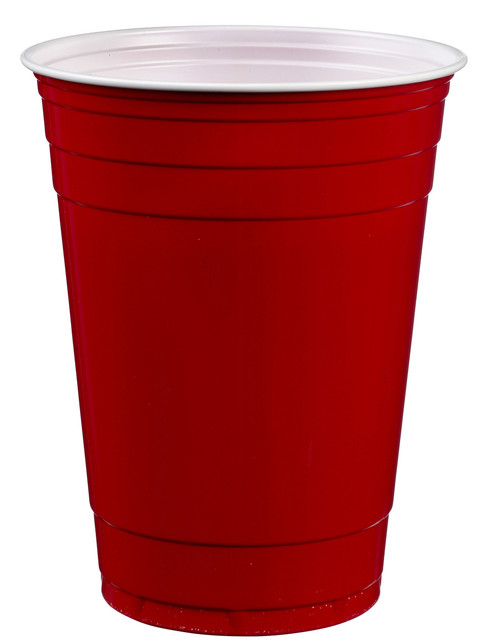Red plastic cup 400ml/13.5oz (Case of 1,500 pc)