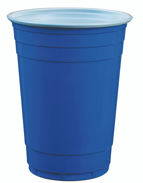Blue plastic cup 400ml/13.5oz (Case of 1,500 pc)