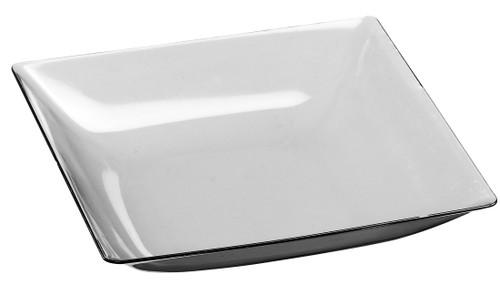 "Fluid Dish deep transparent  plate 130x120x26mm / 5.1x4.7"" (Case of 200 pc)"