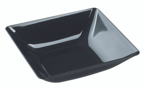 "Fluid Dish deep black 130x120x26mm / 5.1x4.7"" (Case of 200 pc)"