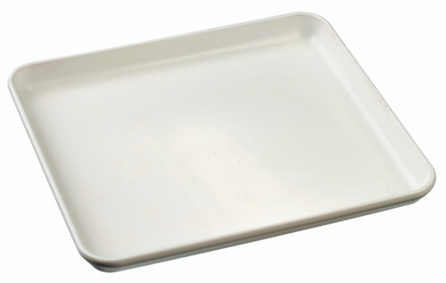 Surface Plate white 180x160x17mm / 7.1x6.3x0.7 (Case of 160 pc)