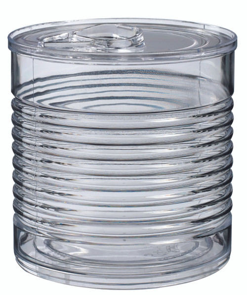 Tin can Transparent with lid 45ml / 1.5 oz (Case of 120 pc)
