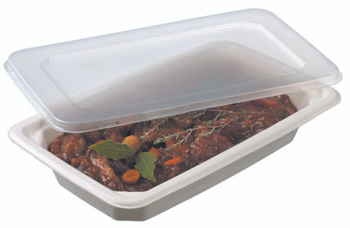 Laminated cellulose container GN1/4 -1100ml - 37.2oz LID NOT INCLUDED (Case of 320 pc)