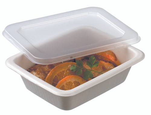 Laminated cellulose container GN1/8 - 580ml -19.6oz LID NOT INCLUDED (Case of 640 pc)