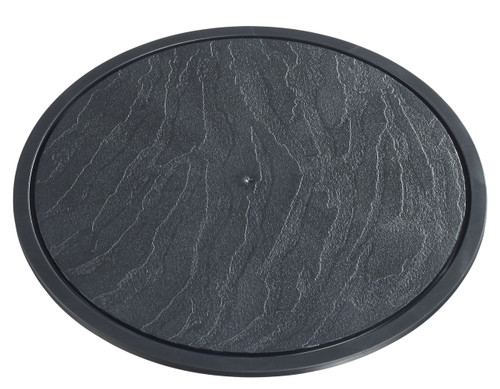 """Slate plate for Coupole D 283mm/11.1"""" - LID NOT INCLUDED (Case of 60 pc)"""