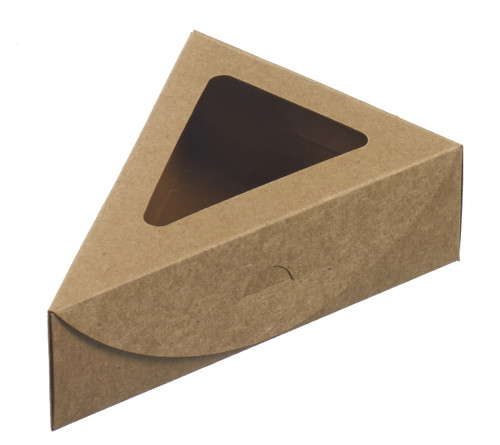 Triangular clamshell with window lid 155/155x110x45m - 6.1 / 6.1 x 4.3 x 1.8 (Case of 500 pc)