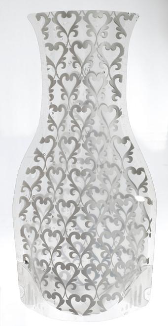 "Soft large pocket vase black 4.7""x3""x 11"" (Case of 10 pc)"