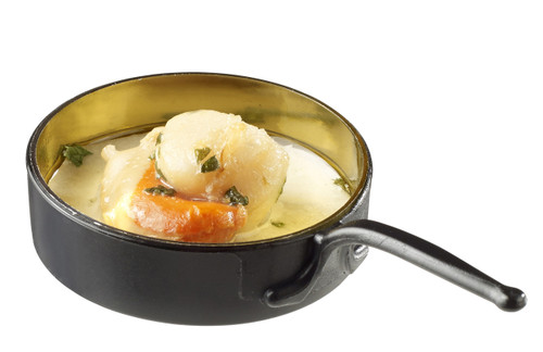 Eskoffie mini dish frying pan black-gold 30ml/1oz (Case of 240 pc)
