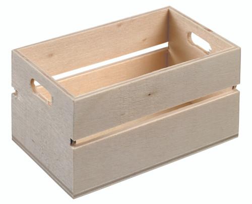 "Mini wooden crate 3.1"" x 2"" x 1.6"" WA00103"