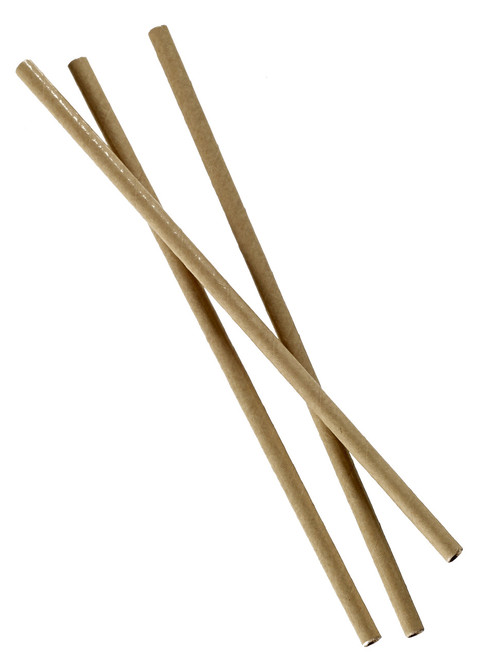 Paper straw Kraft brown color 7.9 inch D0.24 inch (Case of 10,000 pc)