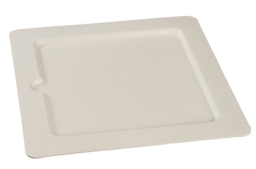 """Sugarcane Pulp Cocktail square plate 9.7"""" x 9.7"""" (Case of 100 pc)"""