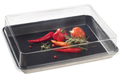 Lid PET Transparent for Kanopee plate VF40181/VF40182/VF40183 (Case of 200 pc)