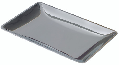 "Fluid plate silver 3.5""x2.4"" / 90x60mm (Case of 200 pc)"