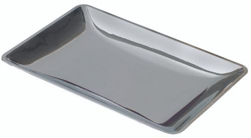 "Fluid plate silver 3.5""x2.4"" / 90x60mm (Case of 1,000 pc)"