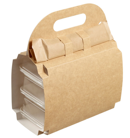 "Valisette Lunch Box for Kanopee plates 3.9""x3.9"" and/or 7.9""x3.9"" (Case of 150 pc)"