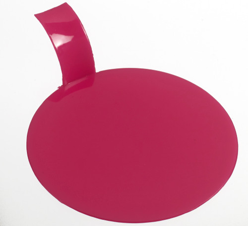 "Pastry display round fuschia 3.1"" / 80mm (Case of 1000 pc)"