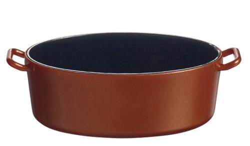 Eskoffie mini Oval cooking pot copper-black 1.5 oz / 45ml (Case of 240 pc)