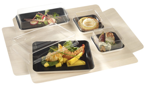 "Wooden Lunch tray base 14.7""x10.7""x2.1"" / 374x271x54 mm - lid and accessoriesnot included - (Case of 50 pc)"