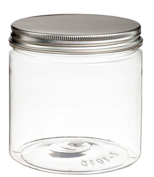 Tornillo Jar transparent 23.7 oz / 700 ml with aluminum screw flat (Case of 120 pc)
