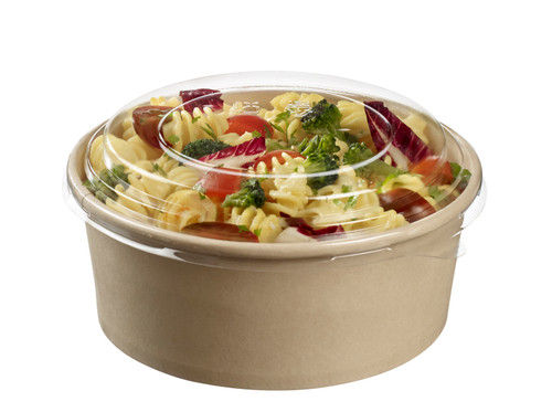 Bamboo fiber round salad Bowl with PLA lamination 25.3 oz /750 ml - LID NOT INCLUDED -(Case of 300 pc)