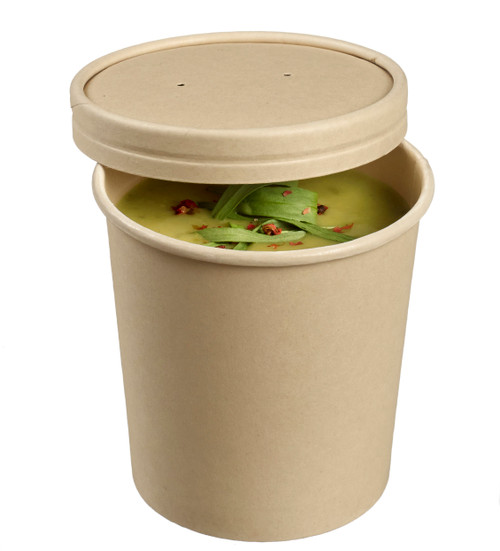 Bamboo fiber round soup bowl with PLA lamination 12oz/350ml - LID NOT INCLUDED -(Case of 500 pc)