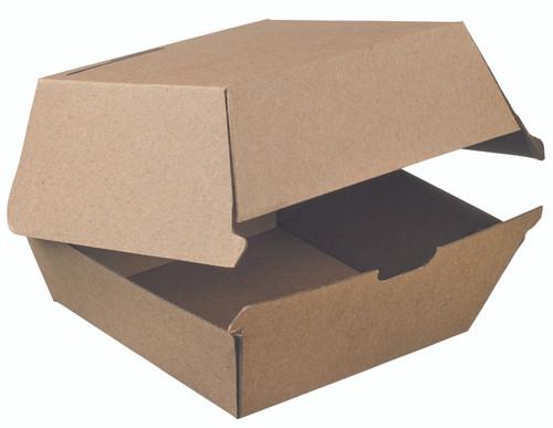 "Cardboard punnet Nano-Kraft Burger Box 5.5""x5.5""x2.8"" / 140x140x70mm (Case of 200 pc)"