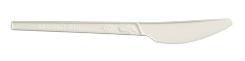 "Knife CPLA, Plant Starch, White 166mm / 6.5"" (Case of 1000 pc)"