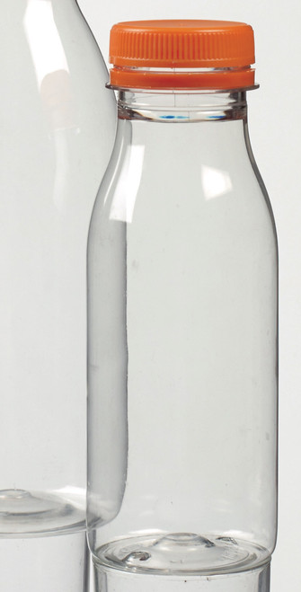 "Plastic bottle with stopper H6.1"" D2.2"" 8.5 oz / 250ml (Case of 144 pc)"