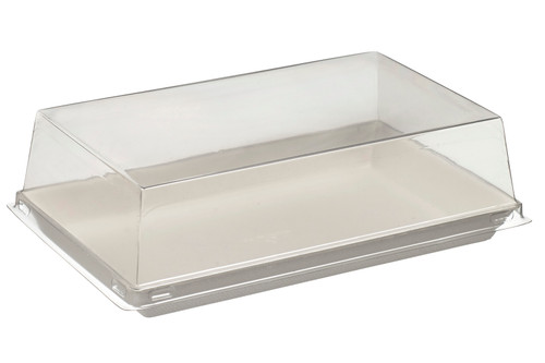 Lid PET Transparent for Quartz Bagasse plate VF45010c,VF45011c, VF45013c - PLATES NOT INCLUDED - (Case of 200 pc)