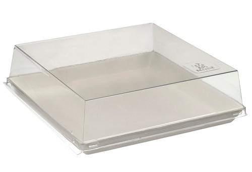 PET Transparent for Quartz Bagasse plate VF45030 , VF45031, VF45033 - PLATES NOT INCLUDED - (Case of 200 pc)