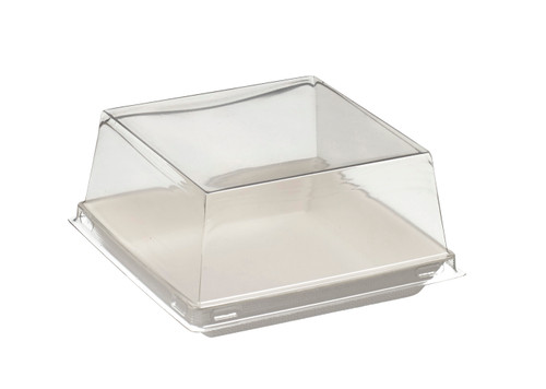 PET Transparent for Quartz Bagasse plate VF45041, VF45042, VF45043 - PLATES NOT INCLUDED - (Case of 200 pc)