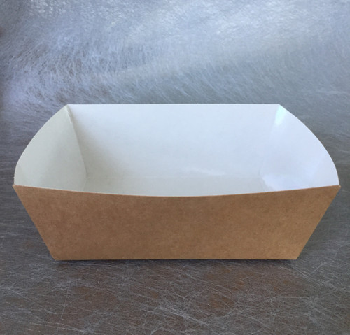 """Cardboard Salad & Meal Container 17 oz with PE Lamination 4.7"""" x 3.3"""" x 2"""" (Case of 600 pc)"""