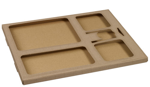 Polaris cardboard Tray base for Kanopee sugarcane pulp plates - Accessories not included - (Case of 50 pc)