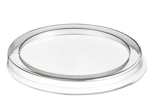 PET Plastic Flat Lid for Bamboo Fiber Cup BU70002c  (Case of 500 pc)