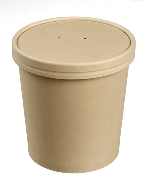 Bamboo fiber round soup bowl with PLA lamination 25oz/750ml - LID NOT INCLUDED -(Case of 500 pc)