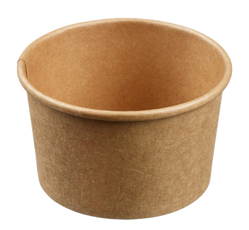 Kraft Cardboard small Cup with PE coating 6.1oz/180ml (Case of 1,000 pc)